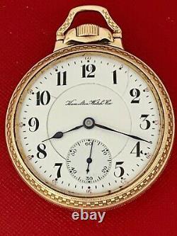 Hamilton 21 Jewel Grade 960 Lever Set 16 Size R. R. Pocket Watch Running Rare