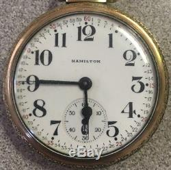 Hamilton 21J #992B 6 Positions Pocket Watch