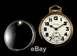 Hamilton 21J 999E 16s Railroad Pocket watchRarer Two Tone M#2 Case Near Mint