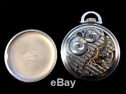 Hamilton 21Jewel 16s 992B Railroad Pocket watch Stainless Steel Cased Near Mint