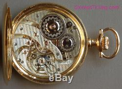 Hamilton 23 Jewel Pocket Watch in 14K Solid Gold Hamilton Case with Box & Papers