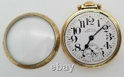 Hamilton 23 Jewel Railway Special Model 950B Open Face Pocket Watch 10k GF