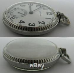 Hamilton 2974B 17 jewels 3 adj. Pocket Watch 2K7048 hack second + s. Steel case