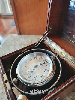 Hamilton 36 Size Deck Watch with Wind Indicator. WWI WW1, Rare