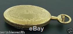Hamilton 44mm Pocket Watch 10K GF 17j Fancy Dial HB 793 Excellent Shape