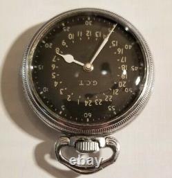 Hamilton 4992B, 16S. 21 jewel adj (1941-42) G. C. T. Military 24 hour pocket watch