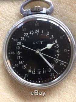 Hamilton 4992B 22 Jewel Military Pocket Watch