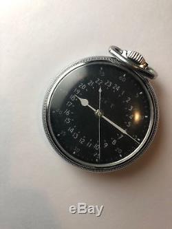 Hamilton 4992B 22 jewel GCT 24 HR Pocket Watch Military needs balance staff