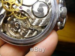 Hamilton 4992B G. C. T. Pocket Watch U. S. 4C21477 Military 22J