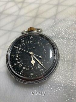 Hamilton 4992B G. C. T. Pocket Watch U. S. 4C95171 Navigation Military