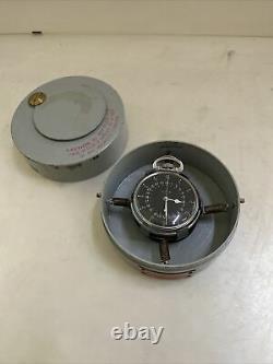 Hamilton 4992B GCT 22j WWII 1941 Pocket Watch 24 HR Navigation Case US Army
