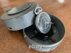 Hamilton 4992B GCT 22j WWII 1942 Pocket Watch 24 HR Navigation Case US Army