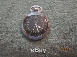 Hamilton 4992B-GCT 24 HR. Military Pocket Watch ca. 1941