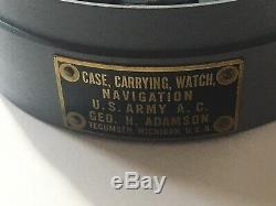 Hamilton 4992B (GCT) Navigation Master Watch Type AN5740 withMetal Canister c. 1942