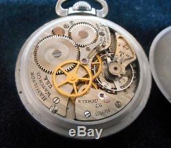 Hamilton 4992B GCT WWII Military 24Hour Pocket Watch 22 Jewels 1944