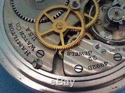 Hamilton 4992B Military 24 Hr Dial Pocket Watch-1941 WW2 Era-Pristine Condition
