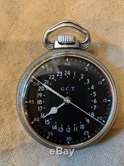 Hamilton 4992B U. S. Military Pilots Navigation Watch 22 Jewels