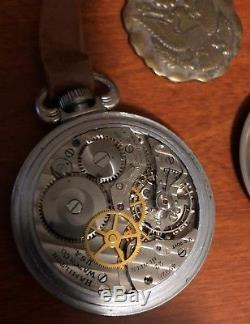 Hamilton 4992B US Army Military Pocket Watch, 22 Jewel, Nickel Case, Army Fob