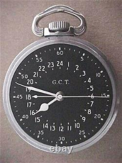 Hamilton 4992B WWII GCT 22 Jewel U S Gov Pocket Watch Running
