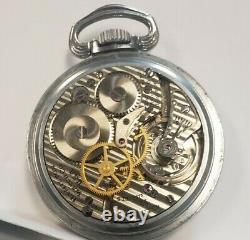 Hamilton 4992B WWII Military Pocket Watch 22 Jewels Running