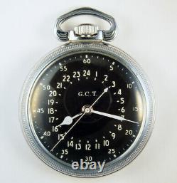 Hamilton 4992b 22 Jewel 16s Military Navigation Master Pocket Watch