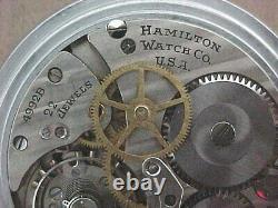 Hamilton 4992b Military World War II 24 hr. GCT Sweep Second Pocket Watch