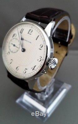Hamilton 900 Wristwatch. Pocket watch movement conversion. 7