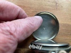 Hamilton 912 12s 17 Jewel Secometer Pocket Watch, 14K White Gold Filled Case