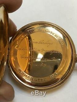 Hamilton 920 23 Jewel Original 14K Solid Gold Open Face Case Original Box