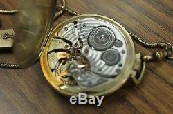 Hamilton 921 45mm Pocket Watch with Chain & Knife circa 1941 WORKING (42596)