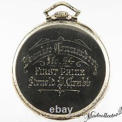 Hamilton 922 14KW Gold Knights Templar Freemason 23j 12s Pocket Watch 46mm withBox