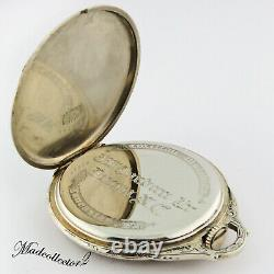 Hamilton 922MP Masterpiece 18K Solid White Gold 23j 12s Pocket Watch 45mm withBox