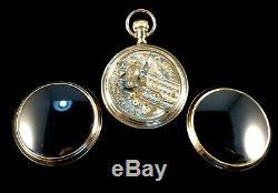Hamilton 940 21 Jewel 18s Railroad Gold Screws Custom Display Pocket watch Fine+