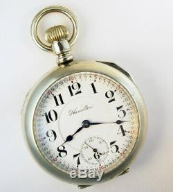 Hamilton 940 Extra 21 Jewel 18s Rare Fancy 2-tone Pocket Watch