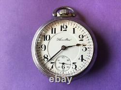 Hamilton 940, Railroad pocket watch. 18s, good running, great Montgomery dial