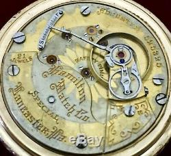 Hamilton 940 SPECIAL Two-Tine Movement 21J Locomotive Case From Collection