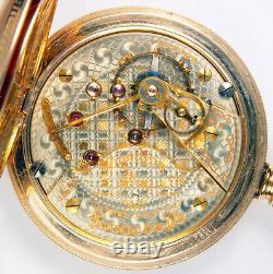 Hamilton 940 Very Rare 2-tone Checkerboard 21j 18s Railroad Pocket Watch