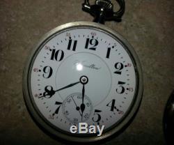 Hamilton 940 pocket watch screw cover salesman case