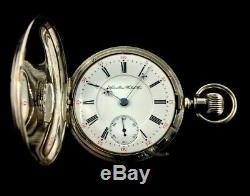 Hamilton 941 18s 21 J 109 Years Old Fancy Silver Hunter Case Fine Condition