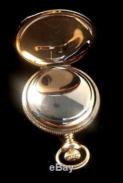 Hamilton 941 18s 21Jewel Fancy Hunter Rare Dial Fancy Case Near Mint Condition