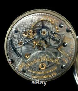 Hamilton 944 18s 19 114 Railroad Pocket Watch Gold Engraved Train on case Fine