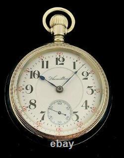 Hamilton 944 18s 19JRarer Railroad Pocket watch Stag Engraved Extra Fine +