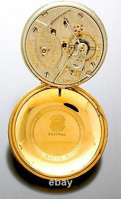 Hamilton 946 Railroad Pocket Watch C1906 23 Jewel, 18 Size, Official Railroad