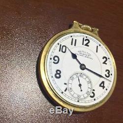 Hamilton 950B 14K Solid yellow Gold BOC RR Case w Porcelain Dial 1950s