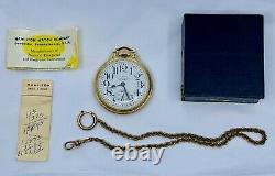 Hamilton 950B 23J 16 Size Railroad Pocket Watch Montgomery Dial Original Papers
