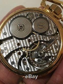 Hamilton 950B Railway Special Pocket Watch Salesman&Original Case RR Time 6 Pos