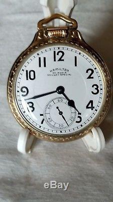 Hamilton 950b Pocket Watch 10k Gf Hamilton Case