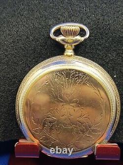 Hamilton 961 21 Jewel Hunting Case Pocket Watch Pendant Set