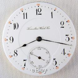 Hamilton 968 Scarce Grade 17 Jewel 16 Size Pocket Watch Mvt
