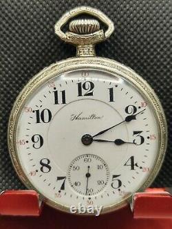 Hamilton 974 17 Jewel 16 Size Pocket Watch